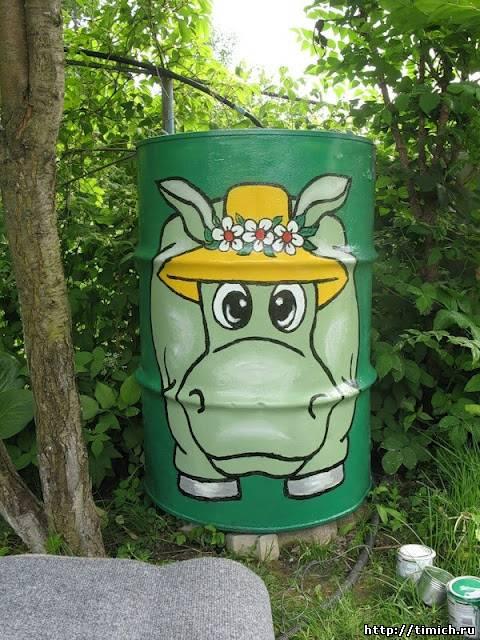 Рисунок для садовых бочек