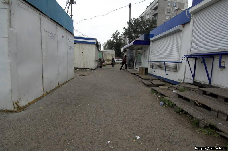 Вид на ул.Русская, 3 из торговых рядов на Кольце
